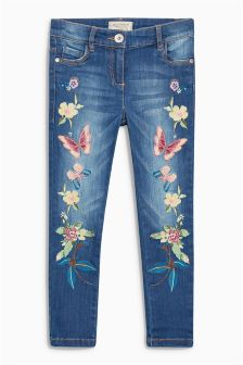 Blue Embroidered Jeans (3-16yrs)