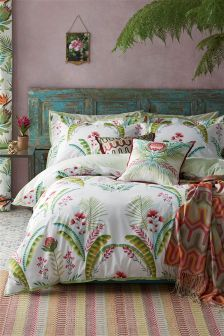 Cotton Rich Bold Graphic Leaf Bed Set