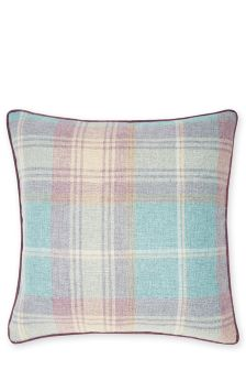 Red Woven Stirling Check Cushion