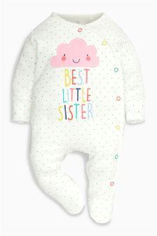 Ecru Sister Cloud Sleepsuit (0-18mths)