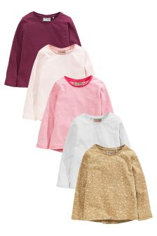 Multi Long Sleeve T-Shirts Five Pack (3mths-6yrs)