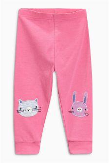 Pink Cat Leggings (3mths-6yrs)