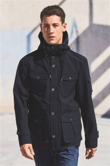 Navy Premium Hooded Jacket