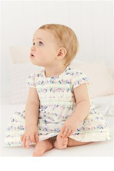 Multi Floral Dress And Knickers Set (0mths-2yrs)