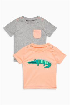 Multi T-Shirts Two Pack (0mths-2yrs)