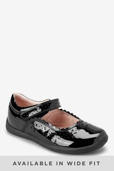 Black Cut Out Mary Jane Shoes (Older Girls)