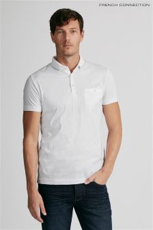 French Connection White Collar Detail Poloshirt