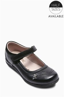 Black Butterfly Trim Shoes (Older Girls)