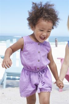 Purple Playsuit (3mths-6yrs)