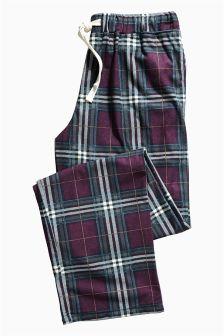 Plum Cosy Check Bottoms