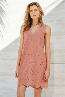 Pink Embroidered Dress