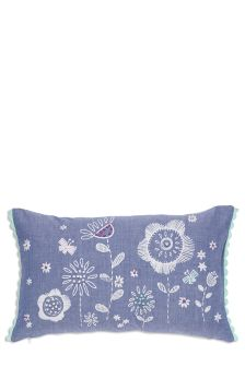 Petal Embroidered Chambray Cushion