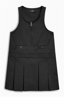 Woven Zip Front Pinafore (3-10yrs)