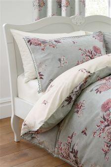 Cotton Rich Stonewashed Effect Floral Bedset