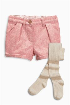 Textured Shorts And Tights Set (3mths-6yrs)