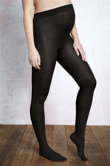 70 Denier Black Opaque Tights (Maternity)