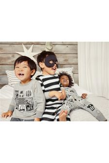Grey Transport Pyjamas Three Pack (9mths-8yrs)