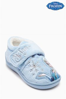 Blue Disney Frozen Slippers (Younger Girls)