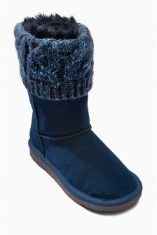 Knit Pull On Boots (Older Girls)