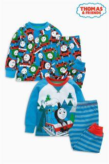 Blue Thomas Pyjamas Two Pack (9mths-6yrs)