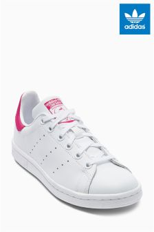 adidas White/Pink Stan Smith (Girls)
