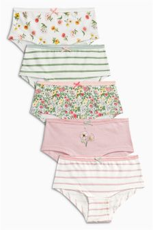 Multi Botanical Hipster Briefs Five Pack (3-16yrs)