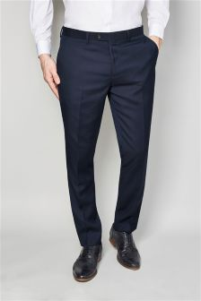 Navy Blue Skinny Fit Suit: Trousers