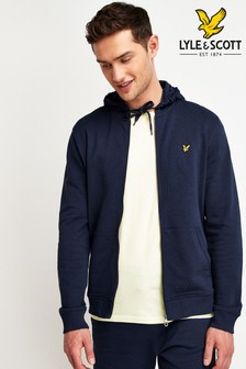Lyle & Scott Navy Zip Through Hoody