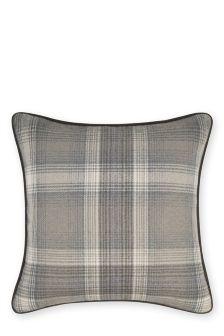Cosy Woven Check Cushion