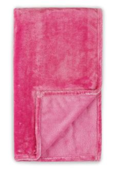 Mid Pink Super Soft Fleece Throw
