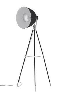 Studio Black And Chrome Tripod Floor Lamp