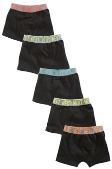 Black Trunks Five Pack (2-16yrs)