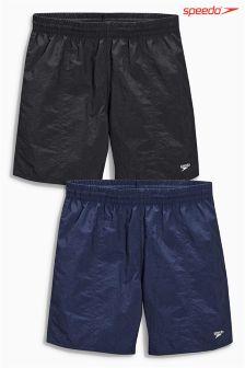 "Black/Navy Speedo 16"" Water Shorts Two Pack"