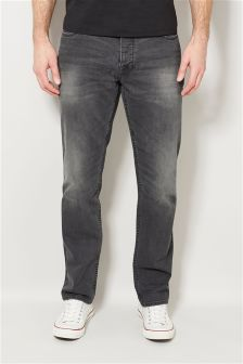 Grey Slim Fit Jeans With Stretch