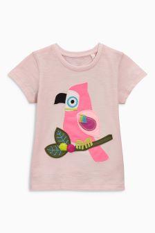 Pink Parrot T-Shirt (3mths-6yrs)