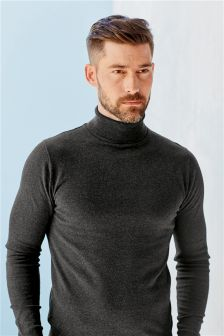 Charcoal Roll Neck