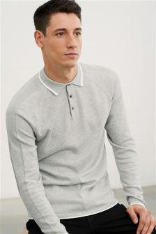 Grey Textured Polo