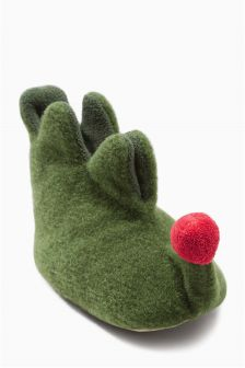 Green Elf Booties (Newborn)
