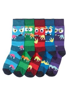 Stripe Monster Socks Five Pack