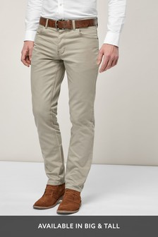 Straight Leg Belted Jeans