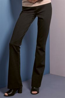 Black Ponte Boot Cut Trousers