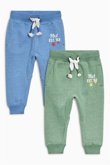 Green/Navy Varsity Joggers Two Pack (3mths-6yrs)