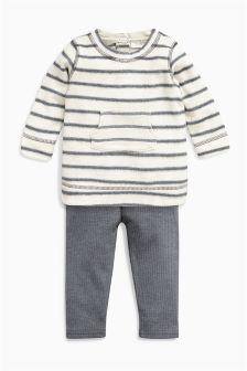 Monochrome Stripe Tunic And Leggings Set (0mths-2yrs)