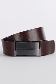 Black/Brown Reversible Leather Belt