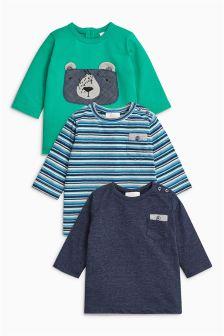 Green/Blue T-Shirts Three Pack (0mths-2yrs)