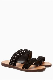 Two Band Suede Sandals