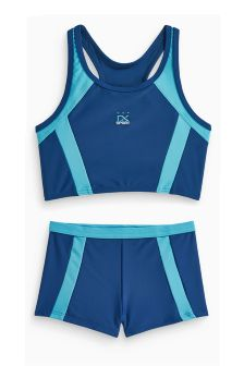 Navy School Sport Tankini (3-16yrs)