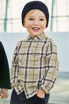 Grey Check Long Sleeve Shirt (3mths-6yrs)
