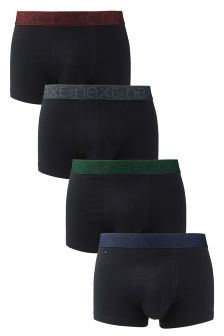 Black Colour Waistband Hipsters Four Pack