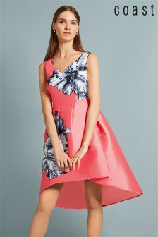 Coast Pink Ursula Placed Floral Dress